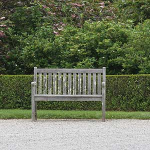 Garden Furniture by driveway