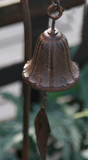 Ornamental cast iron bell